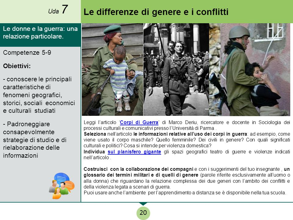 Le differenze di genere e i conflitti