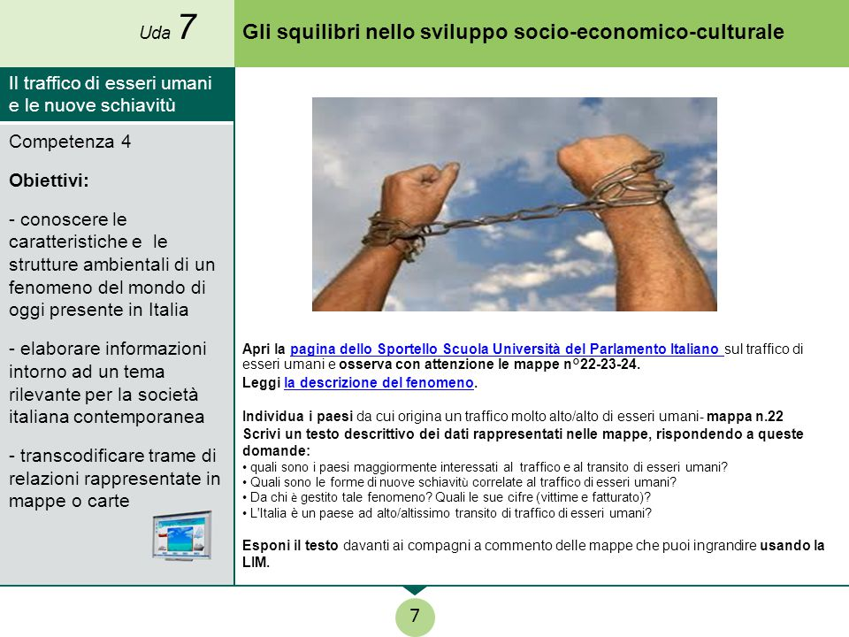 Gli squilibri nello sviluppo socio-economico-culturale