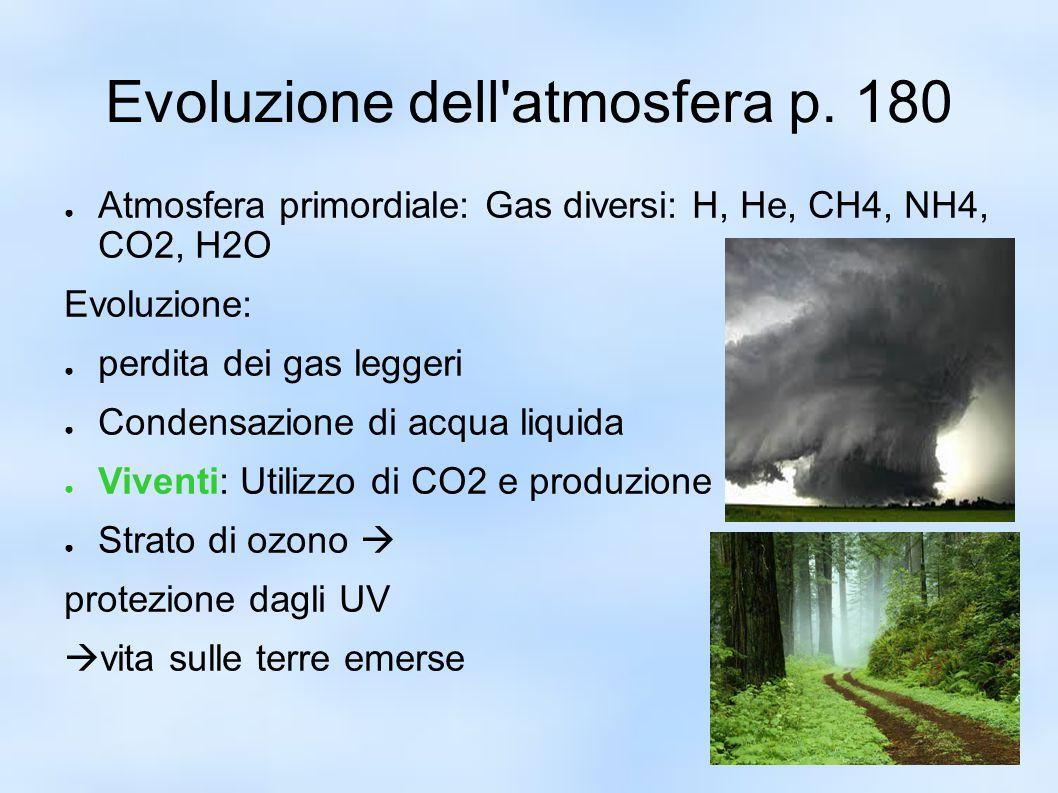 Evoluzione dell atmosfera p. 180