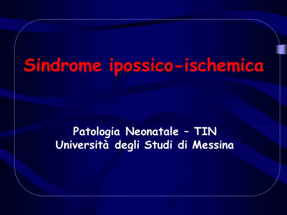 Sindrome ipossico-ischemica