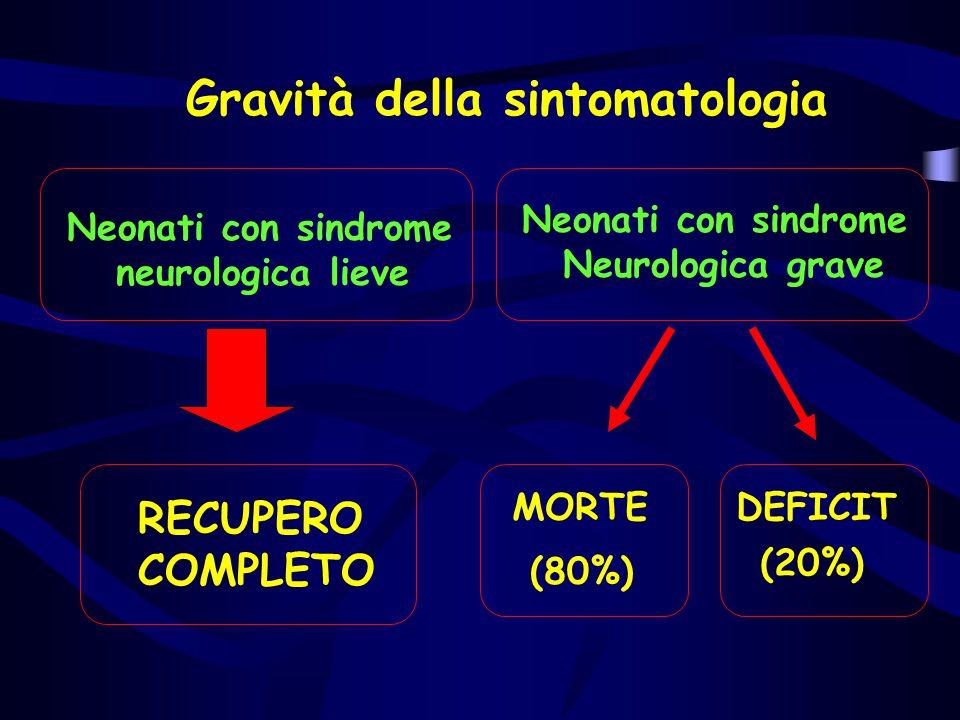 Gravità della sintomatologia