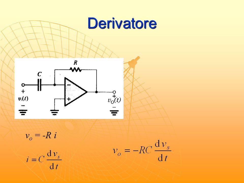 Derivatore s s IN = 0 vo = -R i