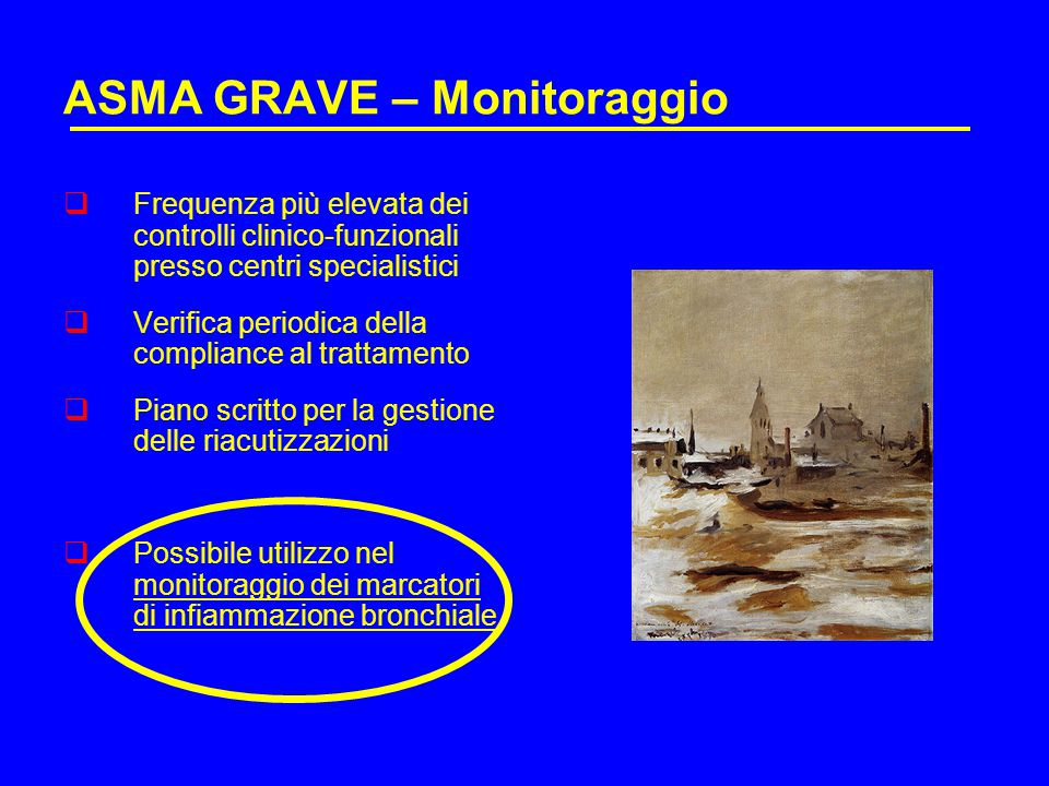 ASMA GRAVE – Monitoraggio