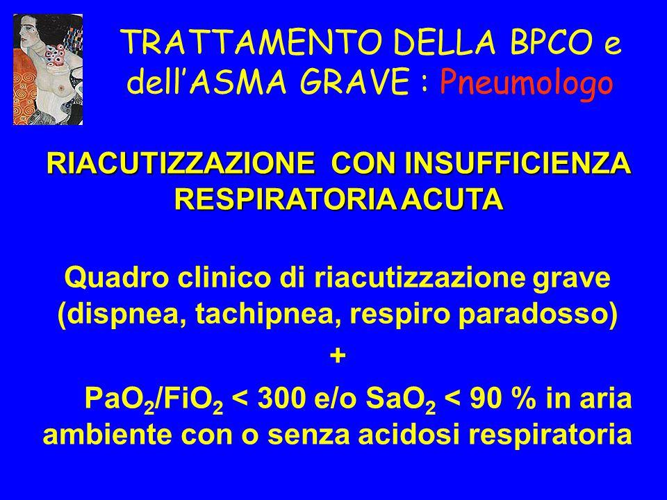 TRATTAMENTO DELLA BPCO e dell'ASMA GRAVE : Pneumologo