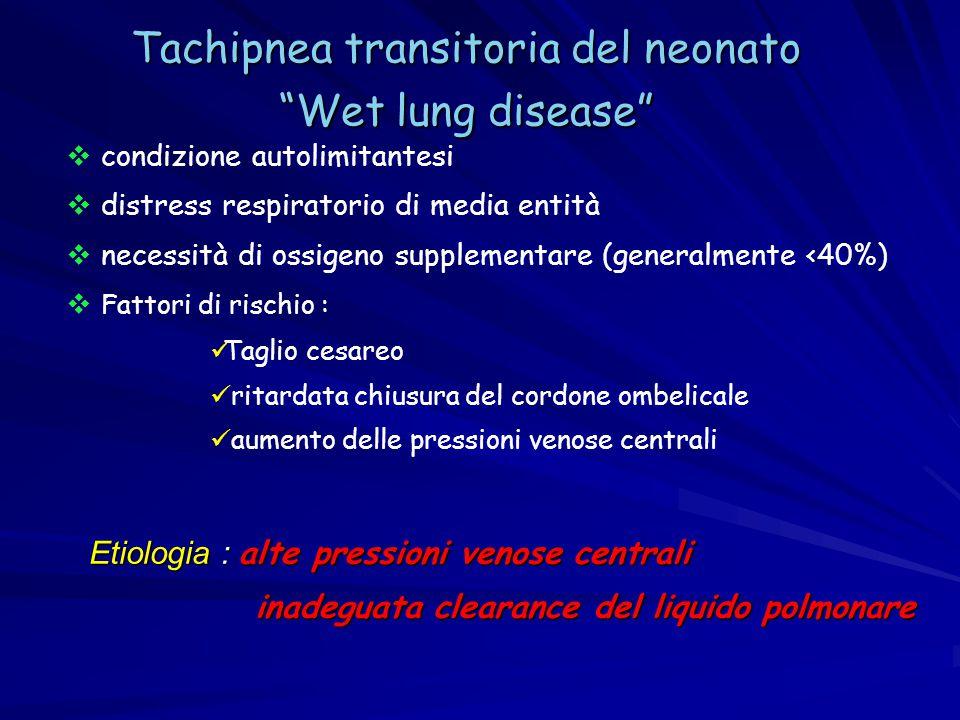 Tachipnea transitoria del neonato Wet lung disease