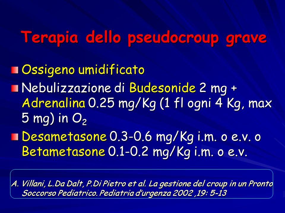 Terapia dello pseudocroup grave