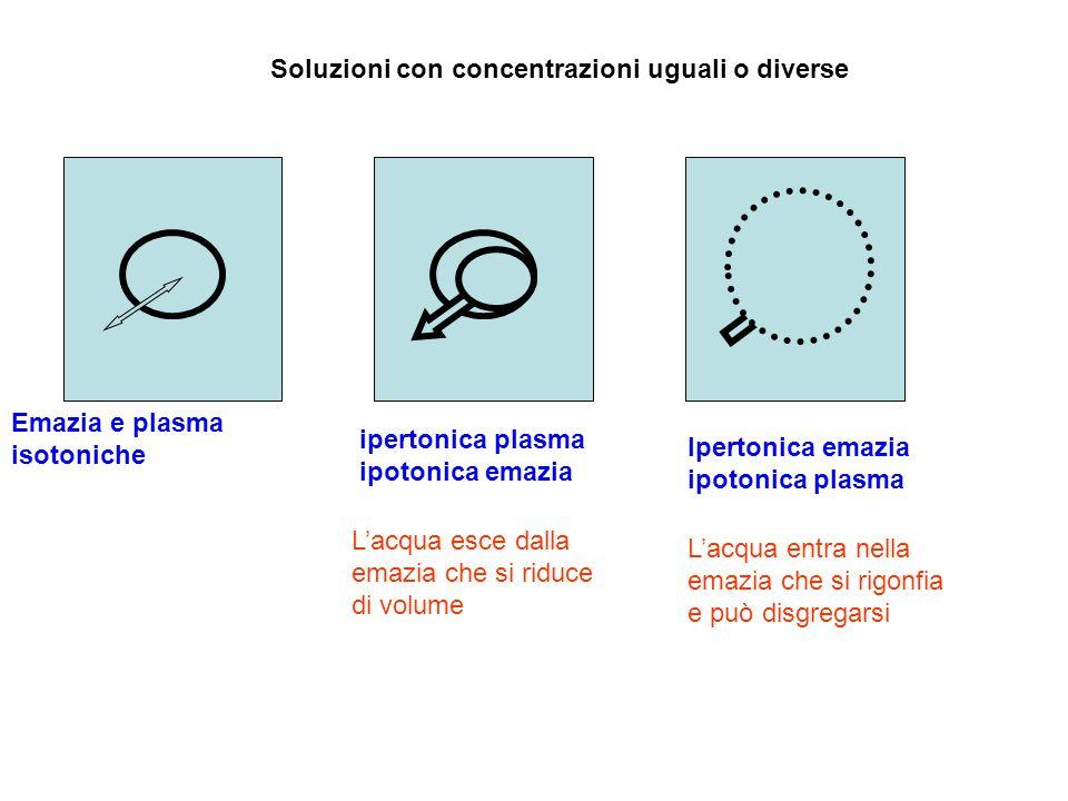 Soluzioni con concentrazioni uguali o diverse