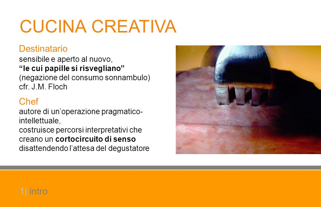 CUCINA CREATIVA Destinatario Chef 1| intro