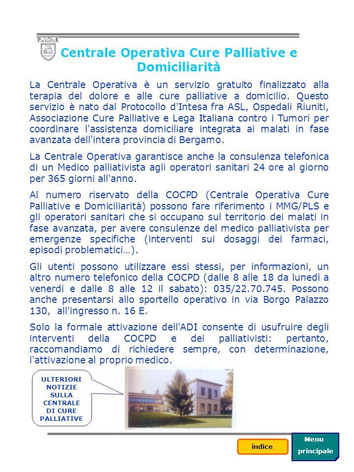 Centrale Operativa Cure Palliative e Domiciliarità