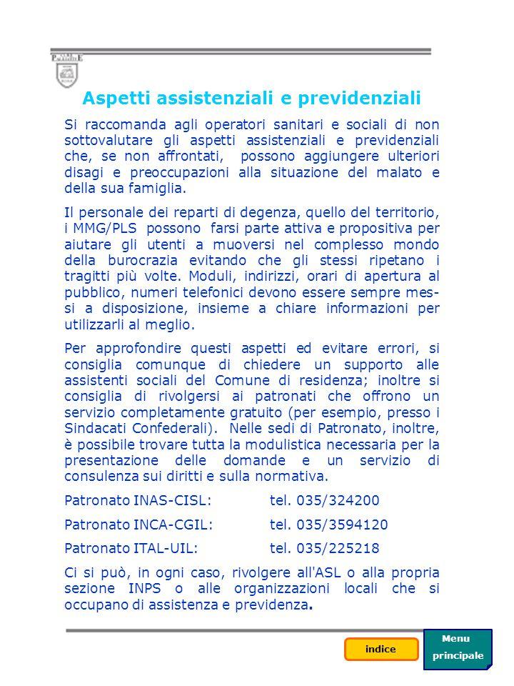 Aspetti assistenziali e previdenziali
