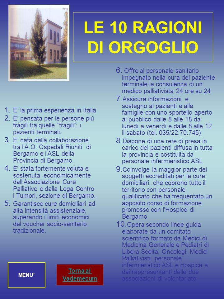 LE 10 RAGIONI DI ORGOGLIO