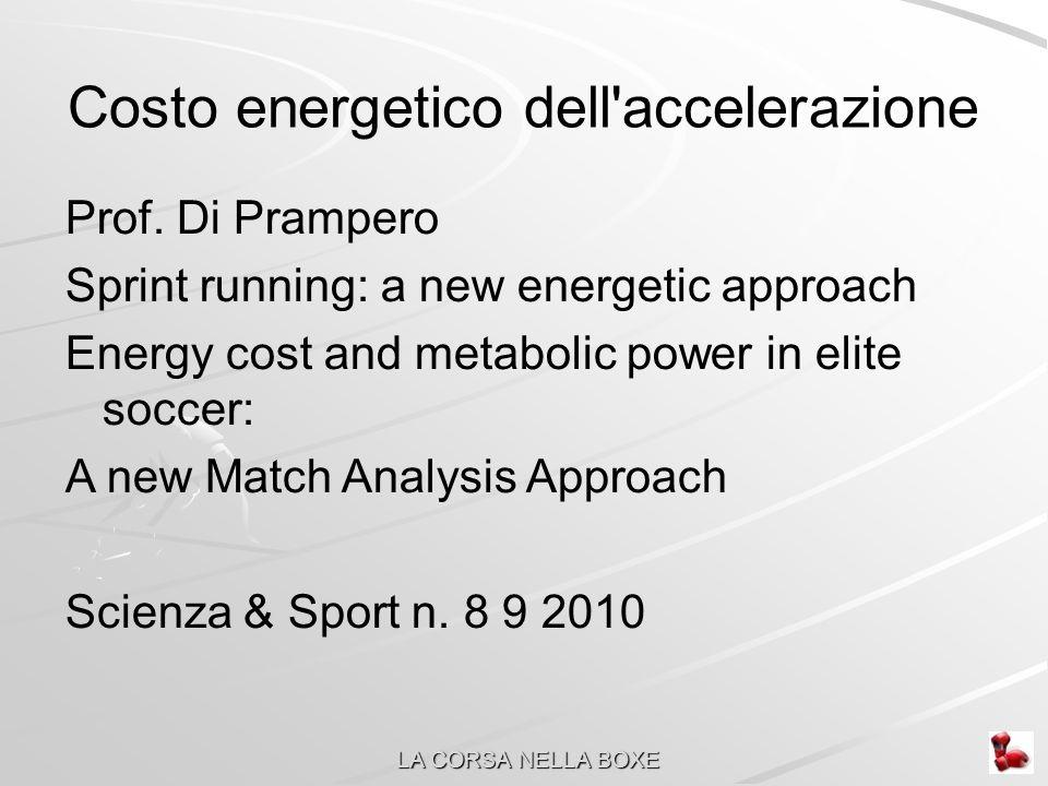 Costo energetico dell accelerazione