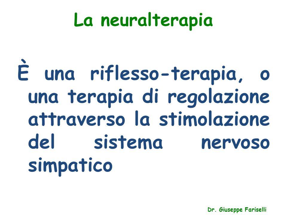 La neuralterapia È una riflesso-terapia, o una terapia di regolazione attraverso la stimolazione del sistema nervoso simpatico.