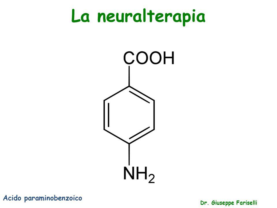 La neuralterapia Acido paraminobenzoico Dr. Giuseppe Fariselli