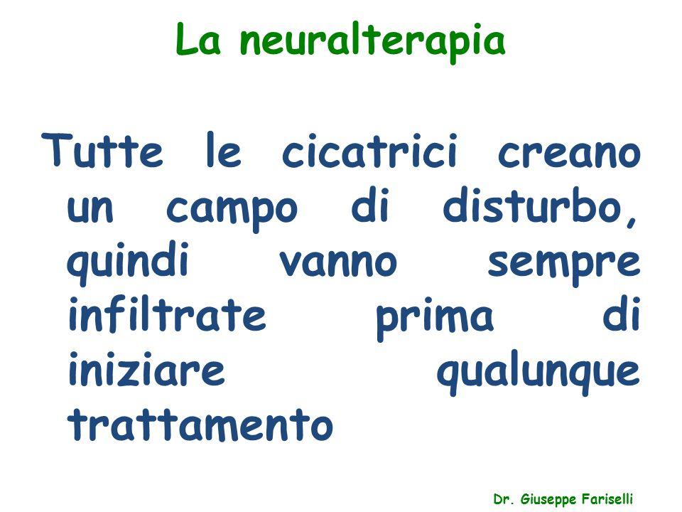 La neuralterapia Tutte le cicatrici creano un campo di disturbo, quindi vanno sempre infiltrate prima di iniziare qualunque trattamento.