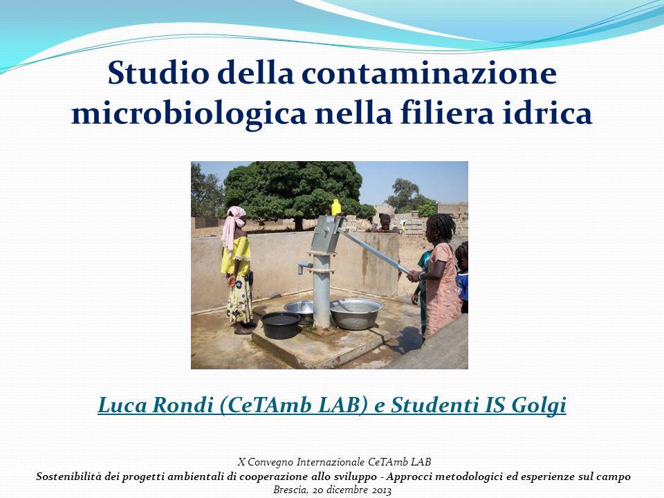 Studio della contaminazione microbiologica nella filiera idrica