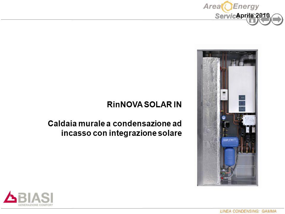 Caldaia murale a condensazione ad incasso con integrazione solare