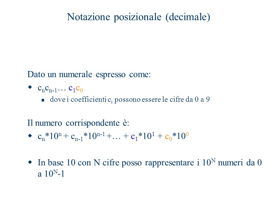 Notazione posizionale (decimale)