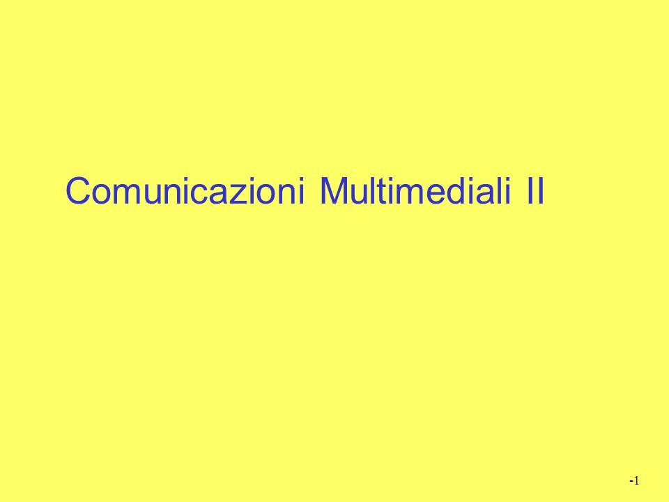 Comunicazioni Multimediali II
