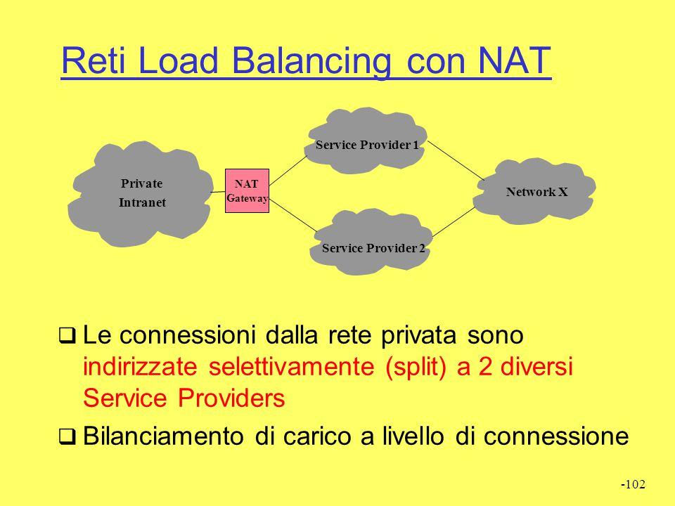 Reti Load Balancing con NAT
