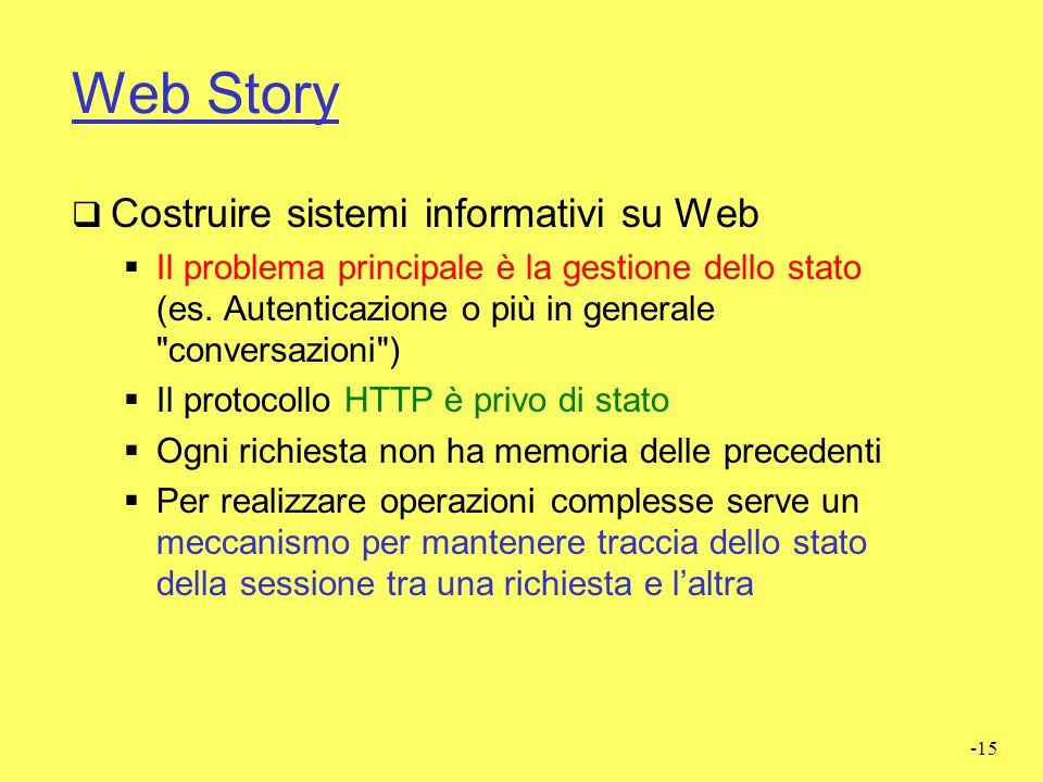 Web Story Costruire sistemi informativi su Web