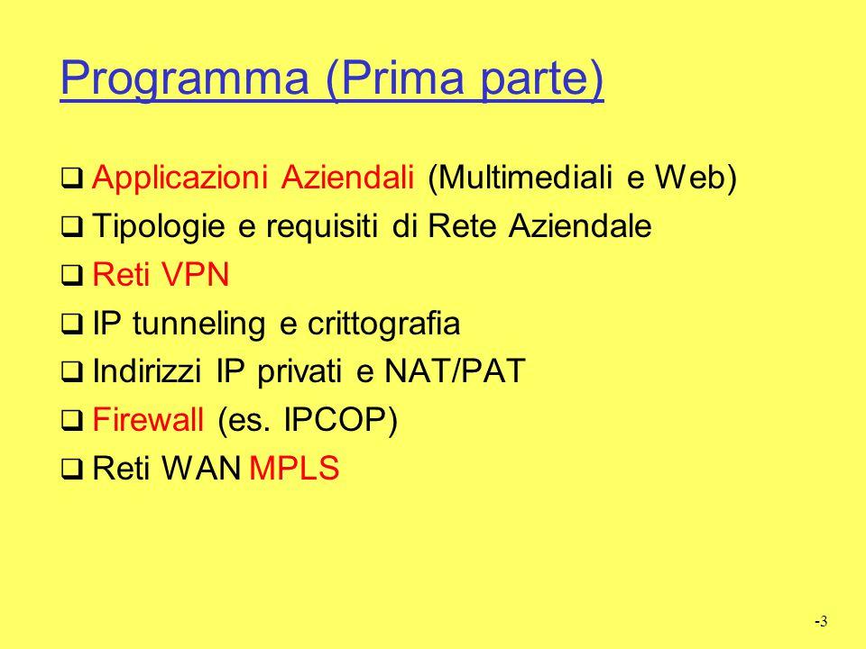 Programma (Prima parte)