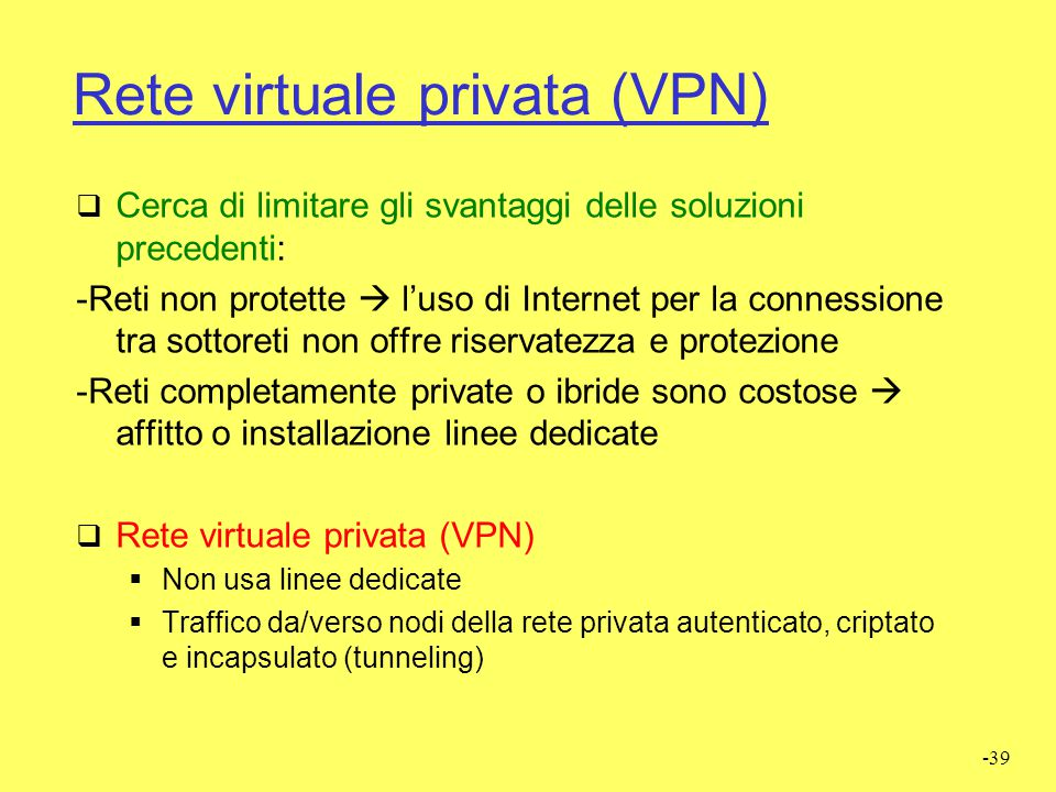 Rete virtuale privata (VPN)