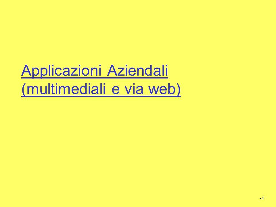 Applicazioni Aziendali (multimediali e via web)