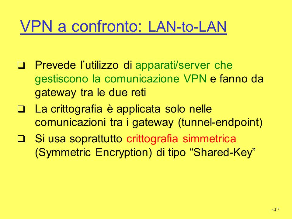 VPN a confronto: LAN-to-LAN