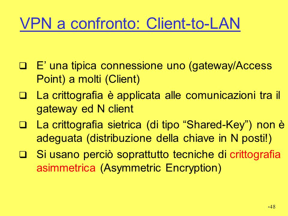 VPN a confronto: Client-to-LAN