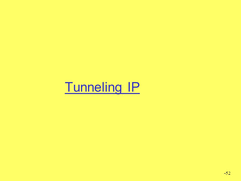 Tunneling IP