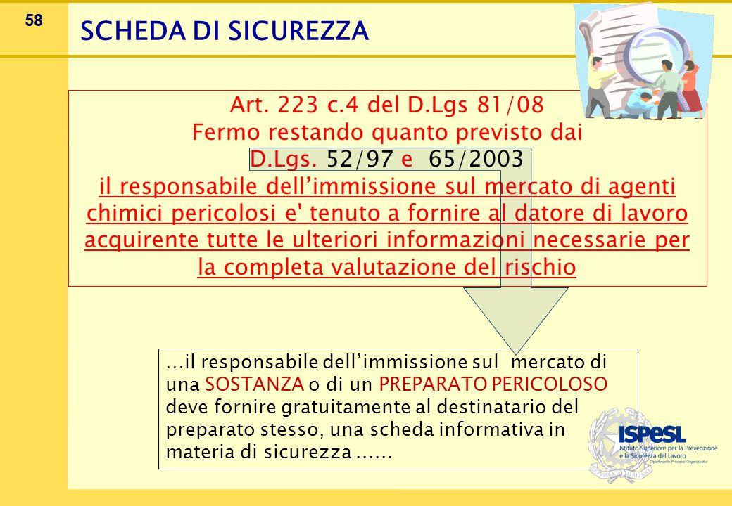 SCHEDA DI SICUREZZA 1 Giugno 2007 REACH