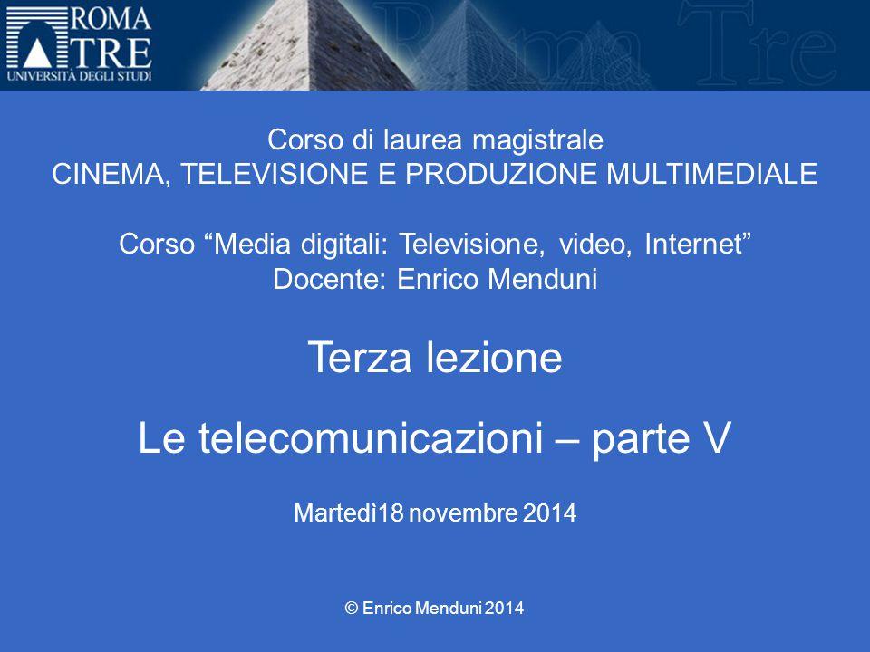 Le telecomunicazioni – parte V