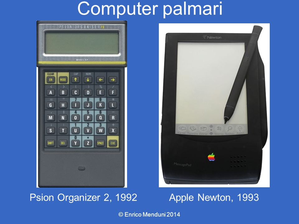 Computer palmari Psion Organizer 2, 1992 Apple Newton, 1993