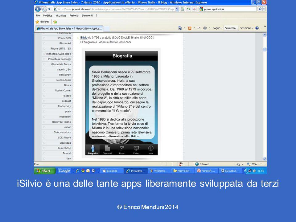 iSilvio è una delle tante apps liberamente sviluppata da terzi