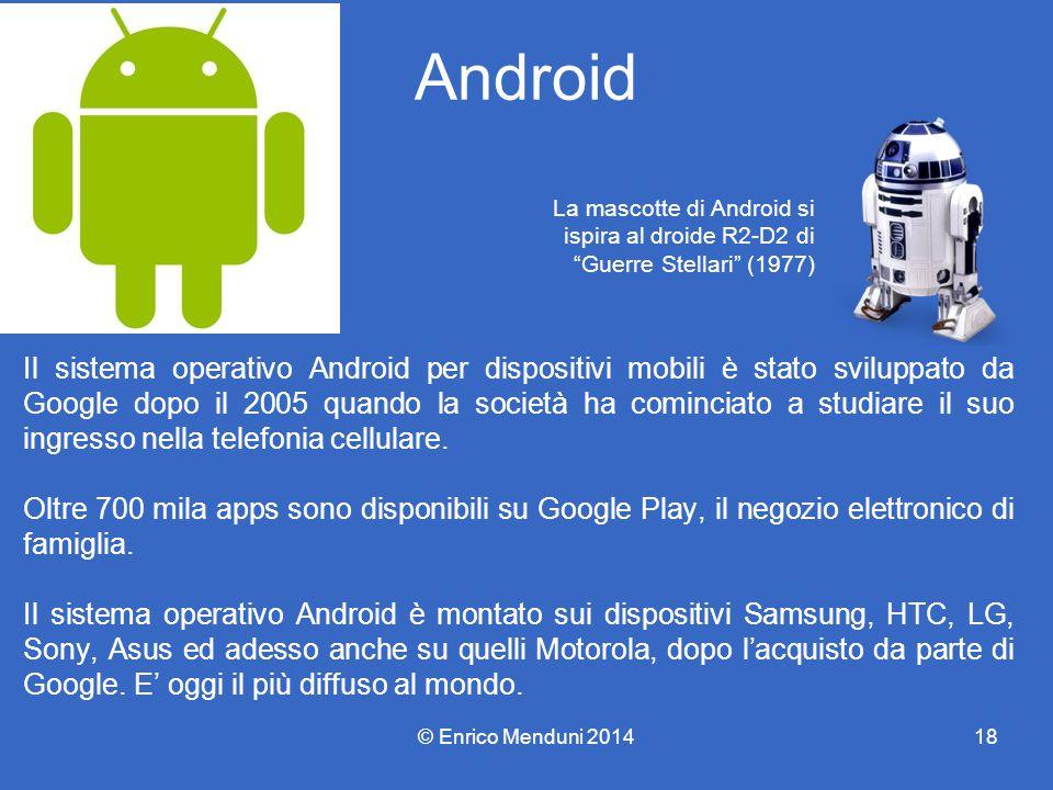 Android La mascotte di Android si. ispira al droide R2-D2 di Guerre Stellari (1977)
