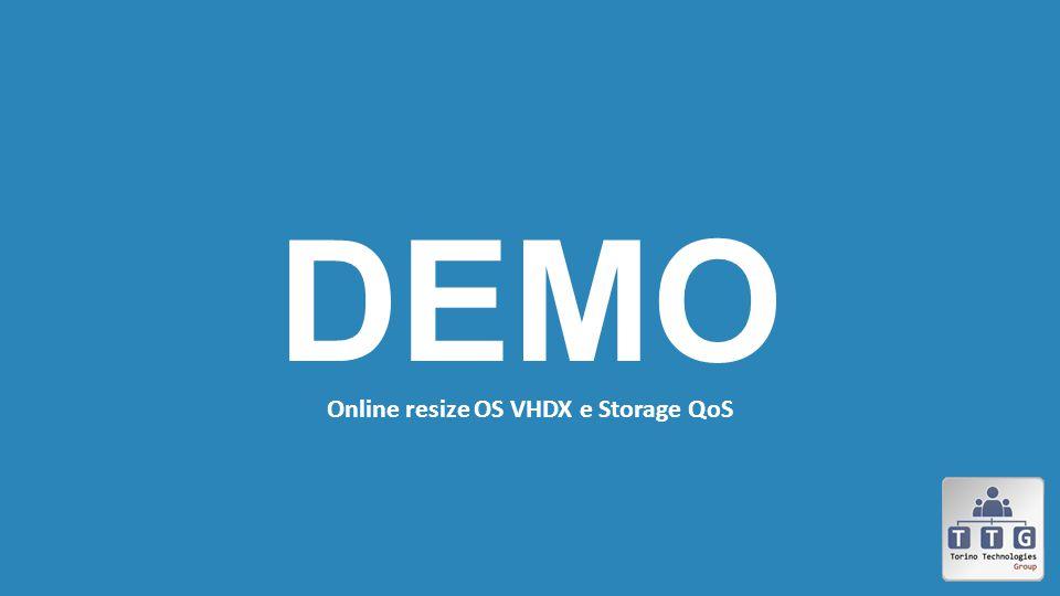 Online resize OS VHDX e Storage QoS