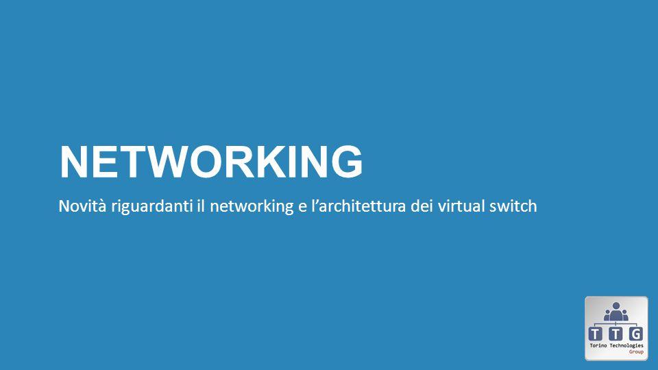 Networking Novità riguardanti il networking e l'architettura dei virtual switch. http://www.aidanfinn.com/ p=14644.