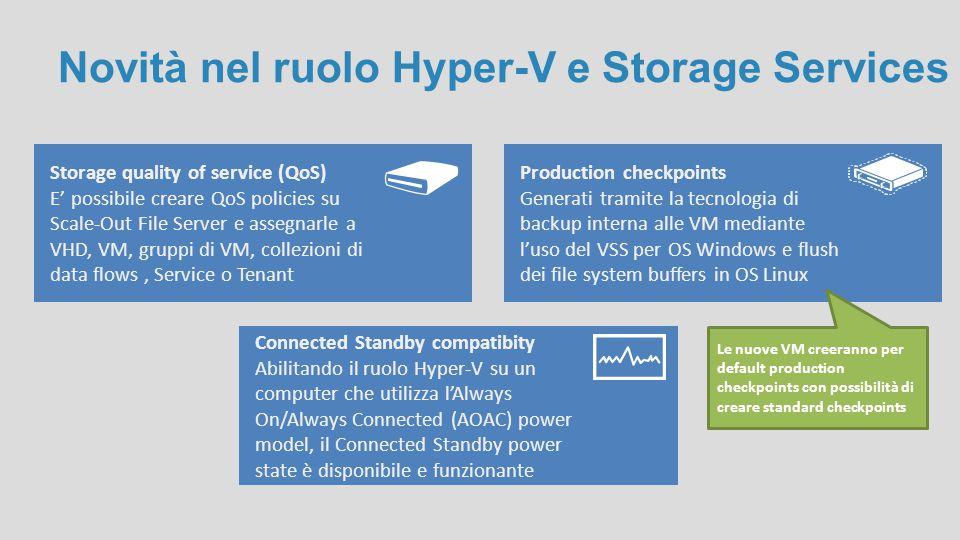 Novità nel ruolo Hyper-V e Storage Services