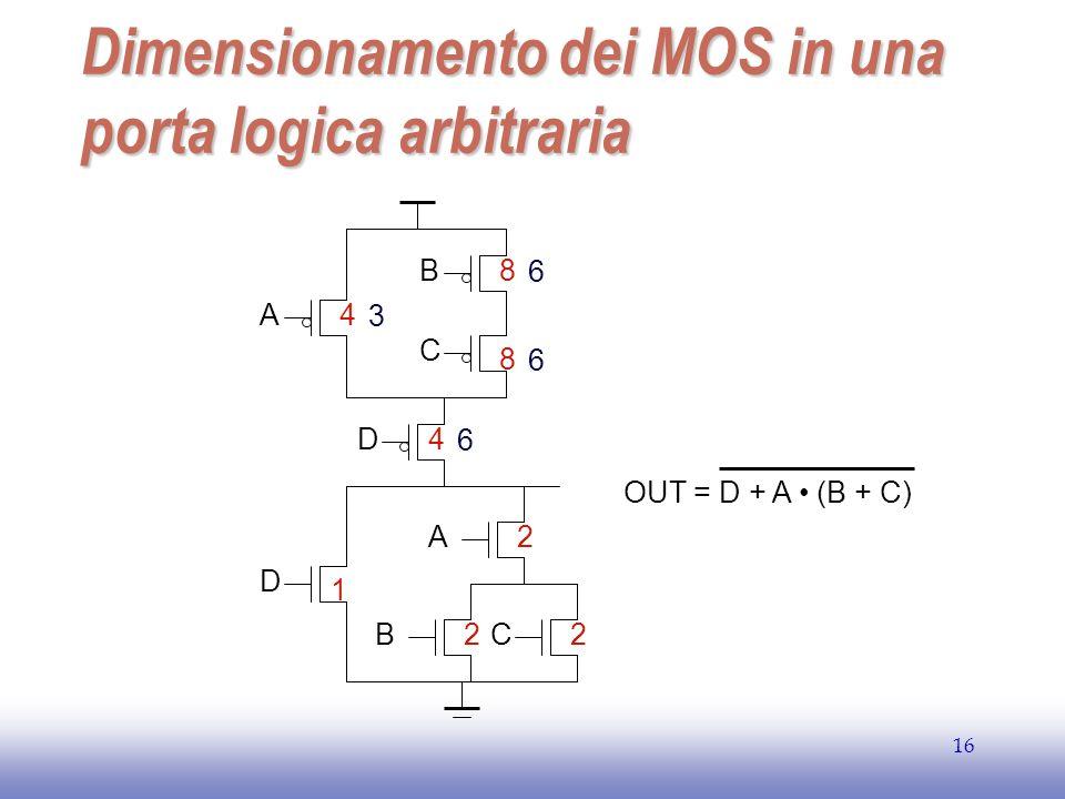 Dimensionamento dei MOS in una porta logica arbitraria