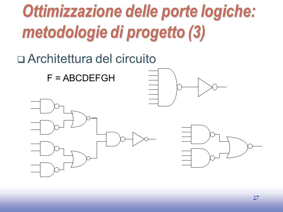 Ottimizzazione delle porte logiche: metodologie di progetto (3)