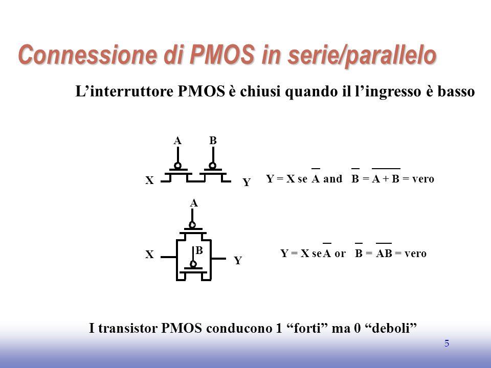 Connessione di PMOS in serie/parallelo