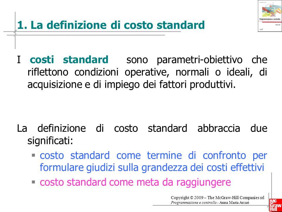 1. La definizione di costo standard