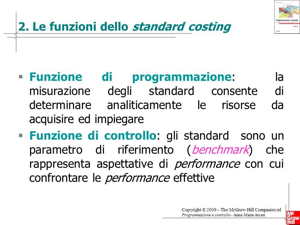 2. Le funzioni dello standard costing