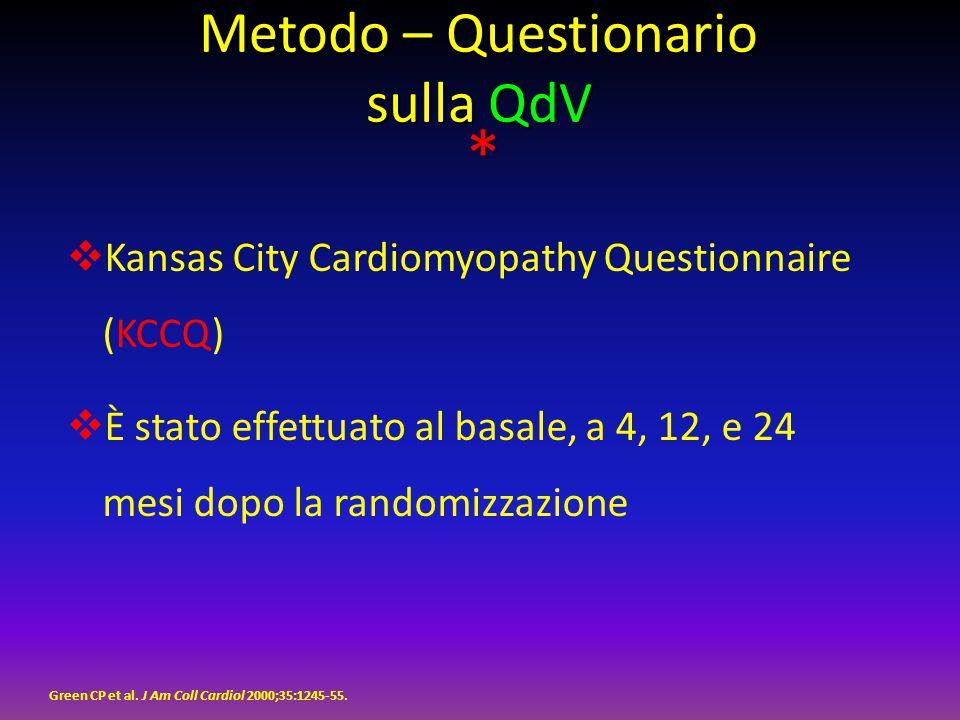Metodo – Questionario sulla QdV