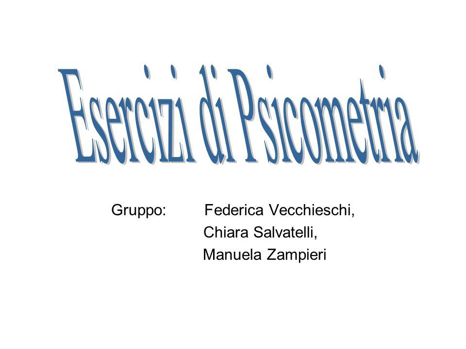 Gruppo: Federica Vecchieschi, Chiara Salvatelli, Manuela Zampieri