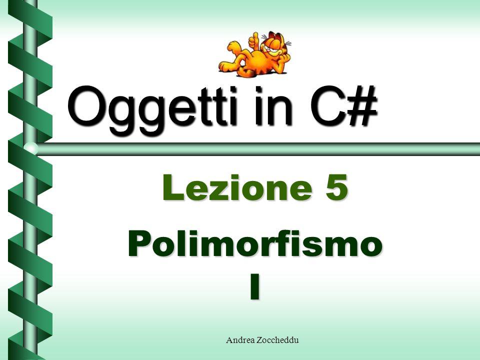 Oggetti in C# Lezione 5 Polimorfismo I Andrea Zoccheddu