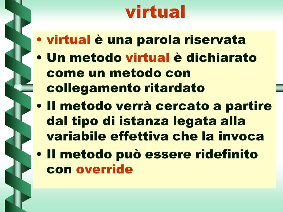 virtual virtual è una parola riservata