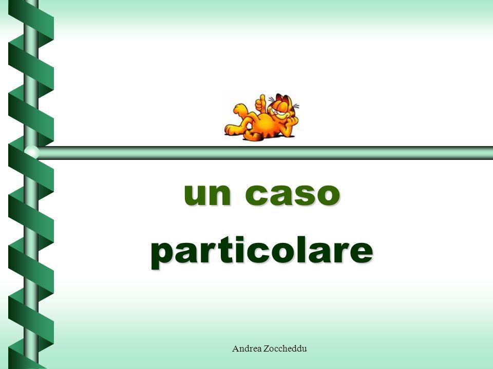 un caso particolare Andrea Zoccheddu