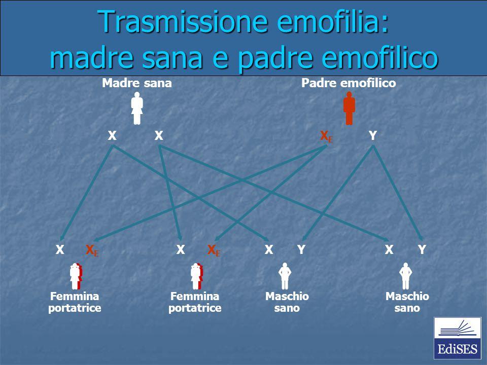 Trasmissione emofilia: madre sana e padre emofilico